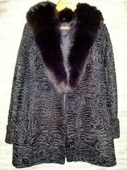 Hochwertiger Persianer-Mantel mit Nerz-Kragen Gr