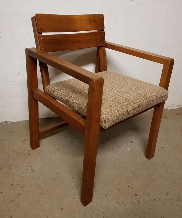 Schreibtischstuhl Stuhl Armlehnenstuhl Bauhaus Kirschholz alt