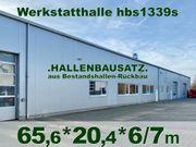 Stahlhalle 65x20x6 5m Kfz-Werkstatthalle aus