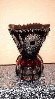 Kleine farbige Vase Kristall