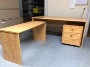 Schreibtisch Kombination mit Rollcontainer für