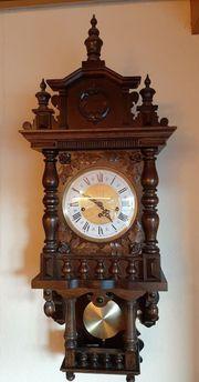 Antike Wanduhr Holz Pendeluhr