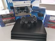 PS4 Pro Konsole mit Controller
