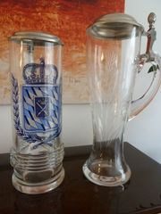 Ein Bier und ein Weißbierglas