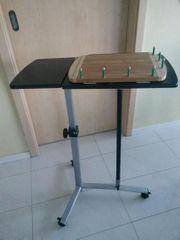Tisch Arbeitstisch fahrbar höhenverstellbar Platte