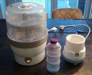 Baby-Starter-Set mit Erwämer Sterilisator Portionierer