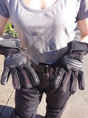 Road Motorrad Handschuhe Leder Textilhandschuhe