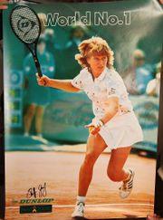 Original Steffi Graf Poster Signatur