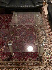 Glastisch Wonhzimmer Couch Tisch