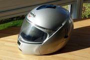 Motorrad Klapp-Helm Caberg silber