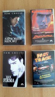 VHS Video Kassetten 4 Stück - Neuwertig