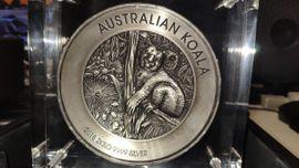 2 kg Silbermünze Koala 2018 Antik Finish