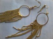 Modeschmuck - Ohrringe - Schmuck - Ohrhänger - goldfarben - unbenutzt