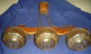 Lampe rustikal 3flammig Landhausstil Eiche