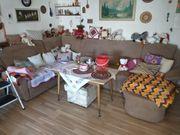 Couchgarnitur Sitzgruppe Stoff über Eck