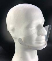 10 Corona-Behelfsmasken aus Kunststoff durchsichtig