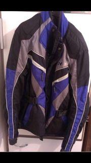 Damenmotorradjacke schwarz blau neuwertig