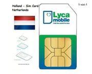 Lycamobile Prepaid Sim-Karte- Niederlande - 10