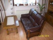 Braun Leder Sofa 2 Stücke
