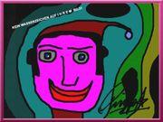 RINGO STARR Beatle Kunstwerk Clown