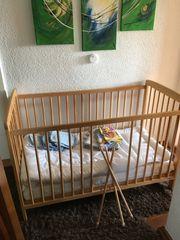 Kinderbett Babybett höhenverstellbar