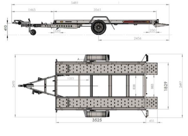 TEMA Anhänger Fahrzeugtransporter