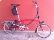 Brompton Faltrad rot 6-Gangschaltung