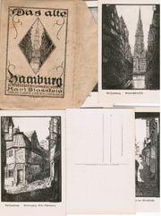 Das alte Hamburg 12 Ansichtskarten