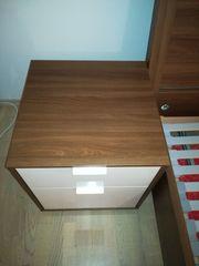 IKEA NYVOLL 2 Nachttische nussbraun -