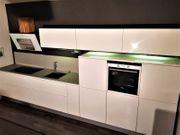 Küchenzeile Einbauküche Nolte Alphalack Weiß