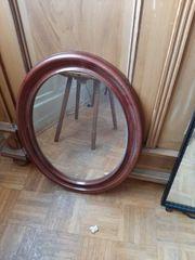Spiegel oval aus altem Bauernhaus