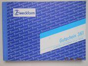 Formularblock Zweckform Gutschein A6 - Büromaterial -