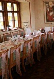 Stuhlschleifen rosa Hochzeit