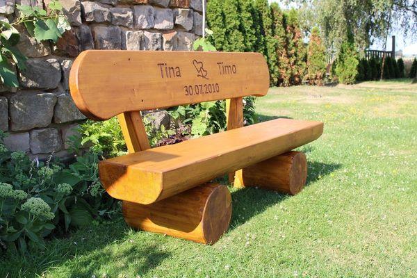 Gartenbank aus Leim holz Krongartmöbel