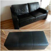Schwarze Couch inkl Beisteller- Top