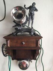 Altes Antikes Telefon Holztelefon Württemberg
