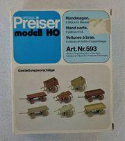 H0 Preiser 593 8 Handwagen