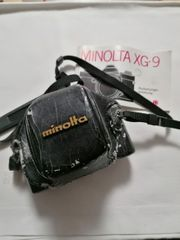 vintage Fotoapparat Minolta xg-9 mit