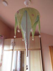 Wunderschöne Kinderzimmerlampe Babyzimmerlampe aus Stoff