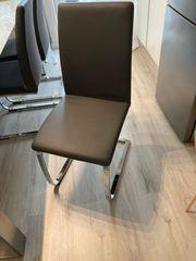 dunkelgraue Stühle Freischwinger