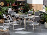 Gartentisch Edelstahl Granit grau poliert
