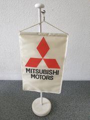 Fahne Flagge mit Ständer Mitsubishi