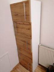 Kallax Regal weiß matt 182x182 cm mit Einsätzen in Leimen