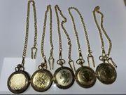 5 Taschenuhren von Hattenberg mit