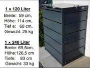 Moderne Mülltonnenbox