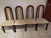4 Stühle Holz bunkelbraun mit