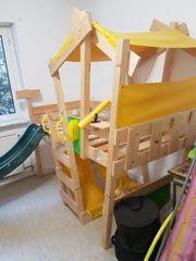 Kinderhochbett mit Rutsche von Wicky