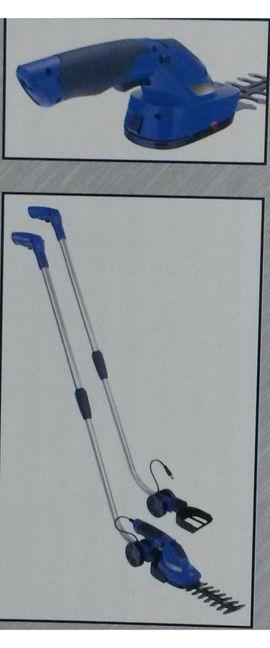 Werkzeuge, Zubehör - Akku Gras-u Strauchscherenset Führungsgriff 3