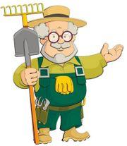 Rüstiger Rentner macht Ihren Garten