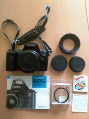 Canon EOS 1000F Spiegelreflexkamera mit
